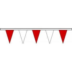 Triângulos vermelhos/brancos